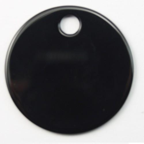 Pendentif Agate Noir 35mm
