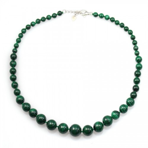 Collier Simple dégradé malachite