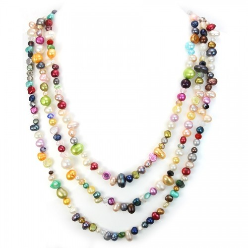 Multicolored Freshwater Pearl Necklace
