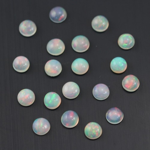 Cabochon opale ethiopian ronde 6mm x 1pc