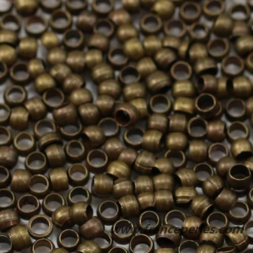 Perles à écraser bronze 2x1.5mm x 5gr