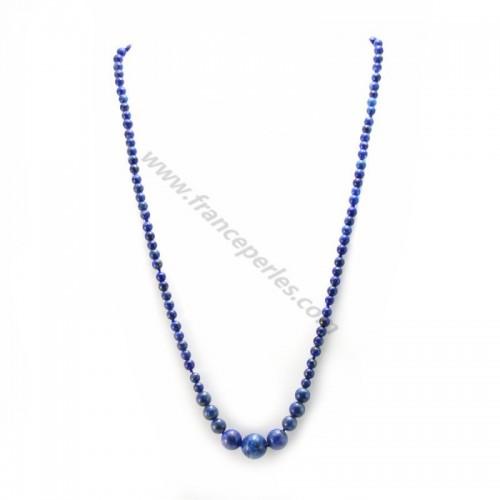 Collier simple lapis-lazuli  40-45cm