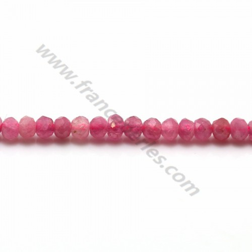 Tourmaline Rose Rondelle Facette  2*3mm x 40cm