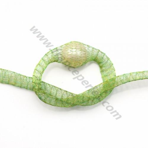 Résille tubulaire 6mm vert jade x 91.4cm