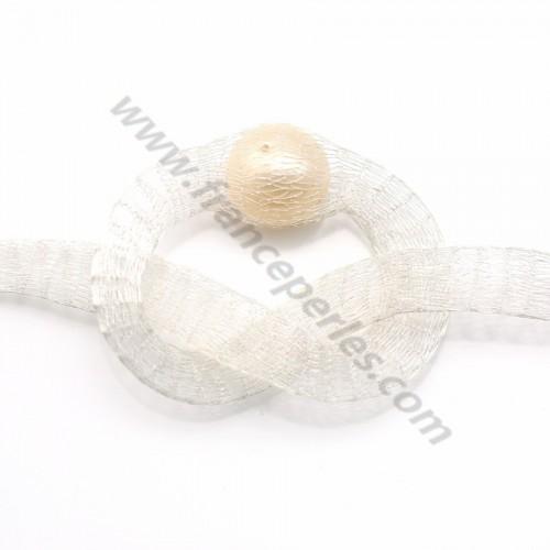 Résille tubulaire 6mm blanc x 91.4cm