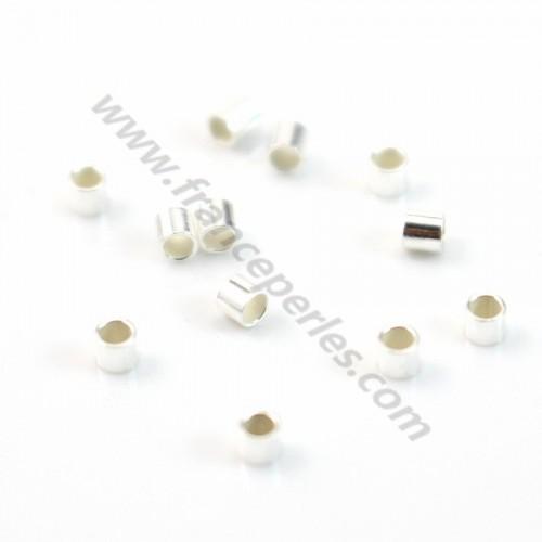 925 Sterling Silver crimp tubes 1*0.5*1.2 mm  x 30 pcs