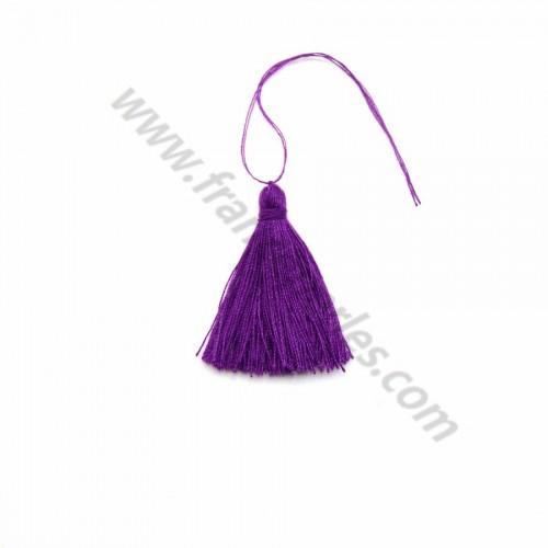 Pompon en coton violet foncé 30mm x 1pc