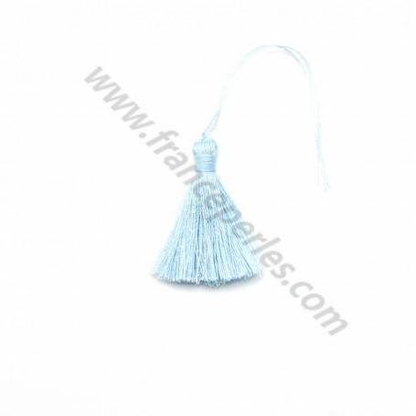 Pompon en coton bleu ciel 30mm x 1pc