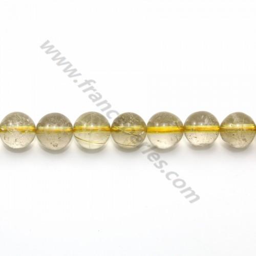 Quartz rutile ronde 8-8.5mm x 40cm