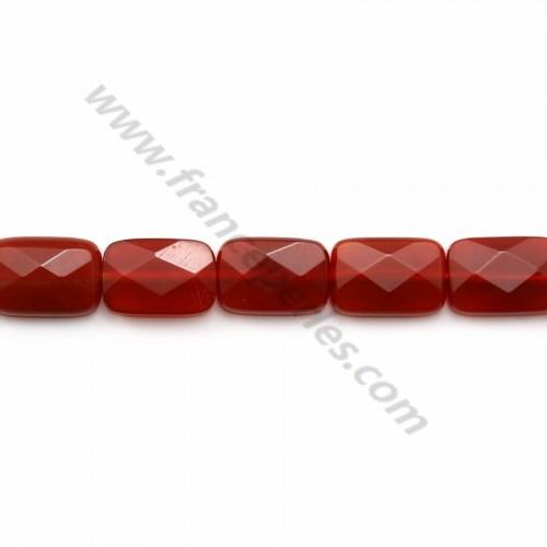 Agate rouge carré arrondie 8mm x 40cm