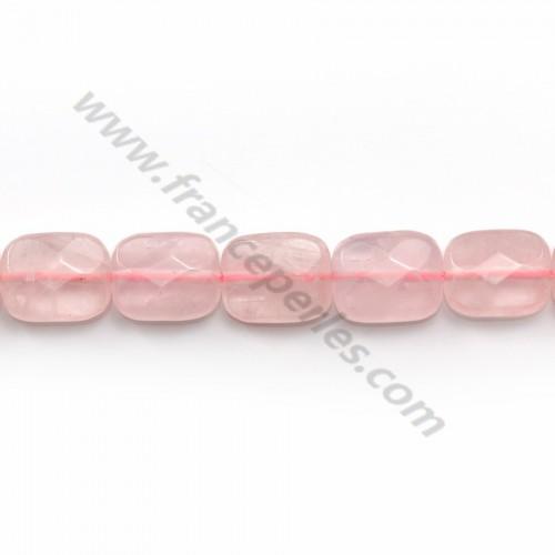 Quartz rose rectangle facette 8x10mm x 5pcs
