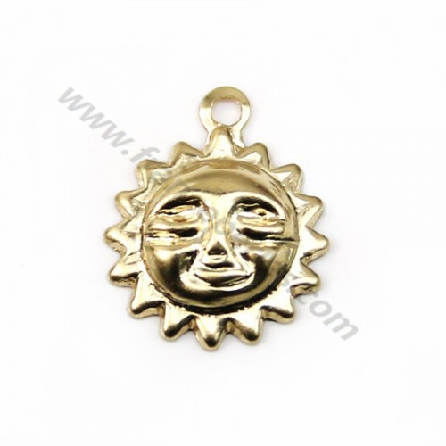 Breloque soleil 8mm gold filled 14 carats x 2pcs