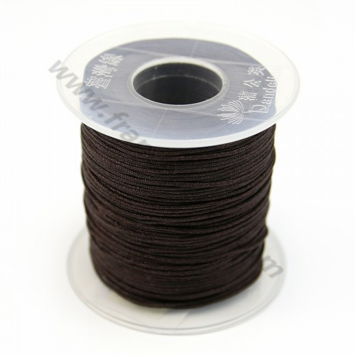 Fil polyester marron 0.8 mm X100m