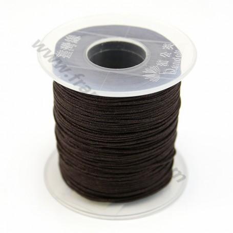 Fil polyester marron 0.8 mm X100m