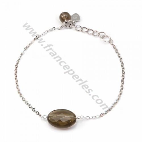 Bracelet chaîne argent 925 Quartez fume