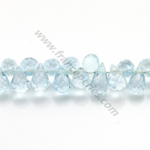 Topaz Bleue Goutte 5.5*7.5mm x 1pc