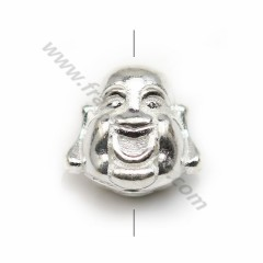 "Spacer in 925 silver, in shaped of ""Buddha"", 11 * 12mm x 1pc"