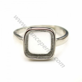 925 sterling silver soutien square 10mm adjustable x 1pc