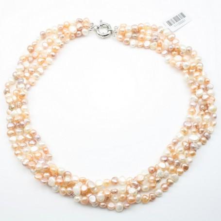 collier perle blanc