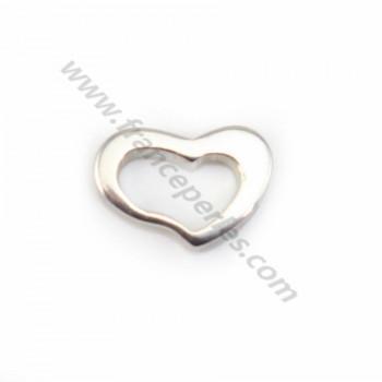Intercalaire coeur Argent 925 5x7mm  X 1 pc