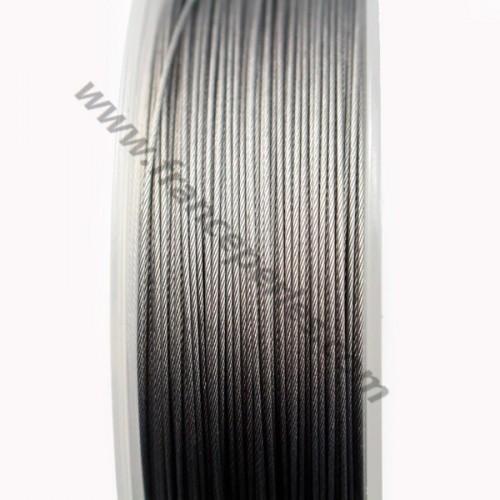Fil Cable acier  Grise 0.60mm x 2m