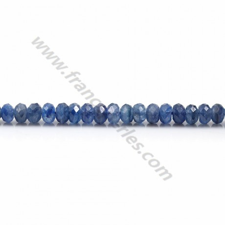 Cyanite bleu, en forme de rondelle facetté, 3 * 5mm x 4pcs