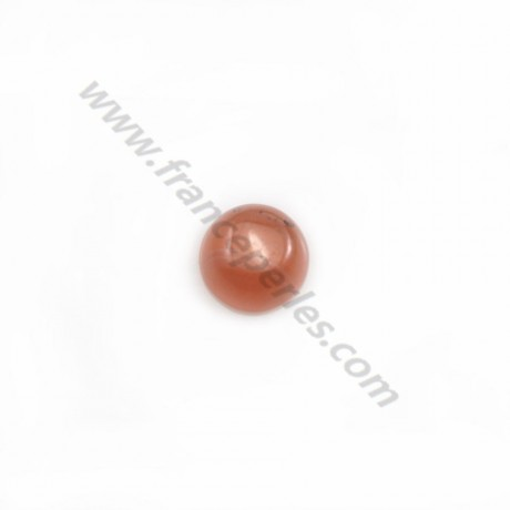 Cabochon de rhodochrosite de forme ronde 6mm x 2pcs