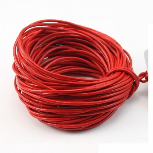 Fil leather rouge 1.0mm X 1m