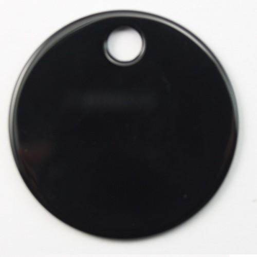 Pendant Black Agate 35mm