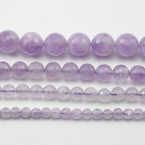 Jade violet Rond facette 12mm x 4pcs