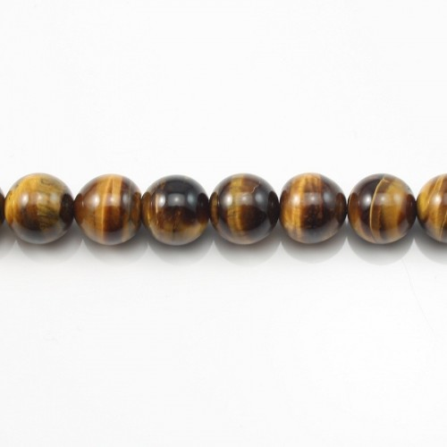 Yellow Tiger Eye Round 10mm x 40cm