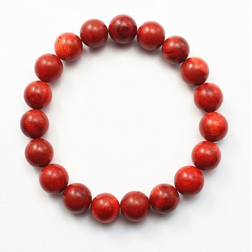 Bracelet corail epouge Round Ball 10 MM