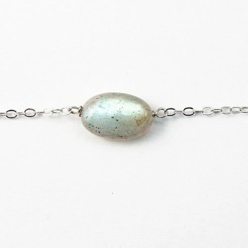 Bracelet chaîne silver 925  labradorite
