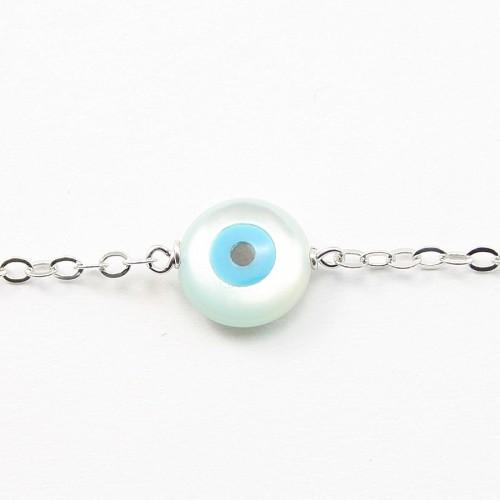 Bracelet chaîne silver 925 shell in eyes