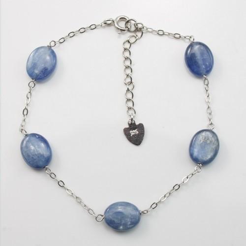 Bracelet chaîne silver 925 kyanite