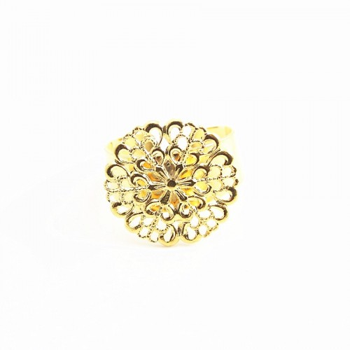 Filigreed ring base gold tone 19.5mm x 1pc