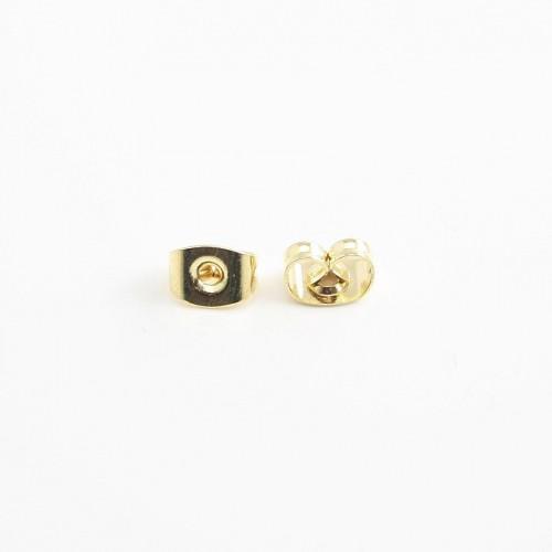 Poussette Earwires gold tone x 6*4mm x 12pcs