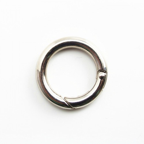 Round Clasp for long necklace silver tone 25*20mm x 1pc