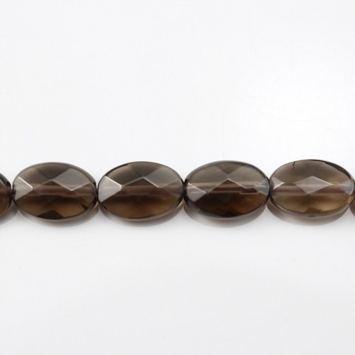 Smoky Quartz Faceted Oval 10*14mm X 40 cm