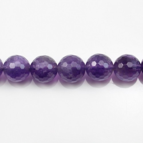 Amethyst Faceted Round 12mm A+ x 40cm