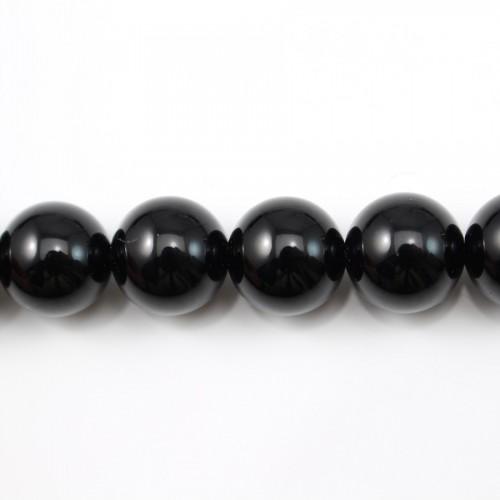 Agate Noire Ronde 18mm