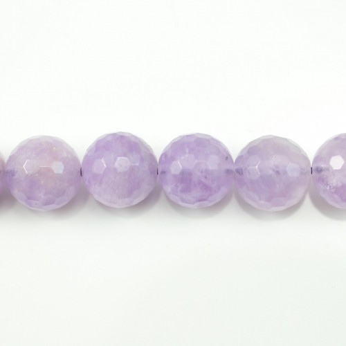 Jade purple Round faced 14mm x 40cm