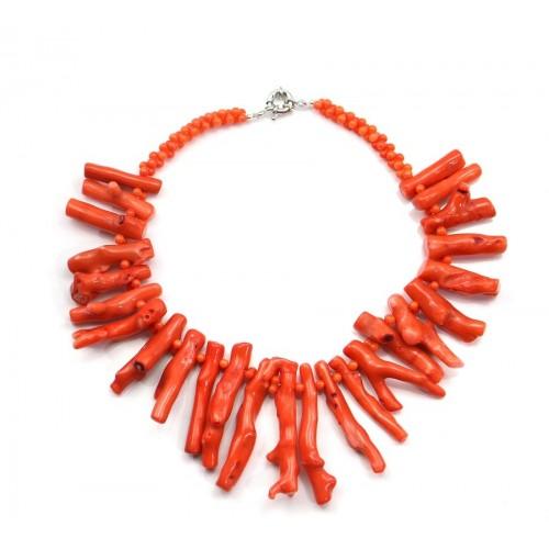 Collier en bambou de mer orange