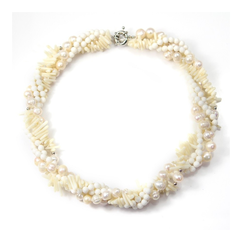 collier perle torsade