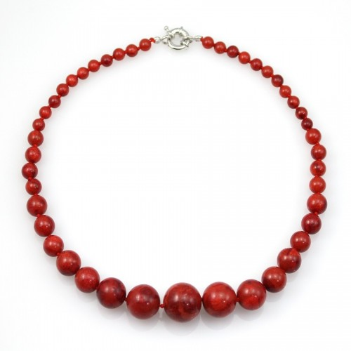 COLLIER SIMPLE CORAIL EPONGE