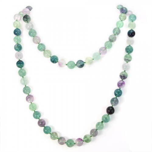 Necklace fluorite 10mm 90cm