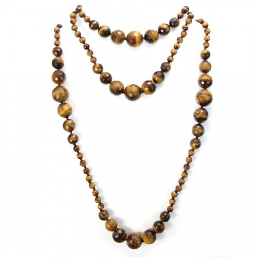 Necklace tiger eye 140cm