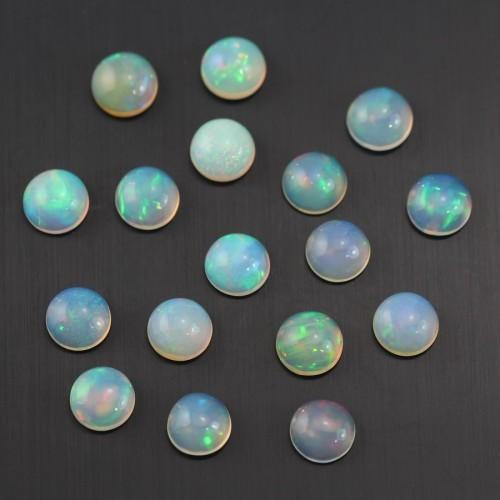 Cabochon opal ethiopian round 7mm x 1pc