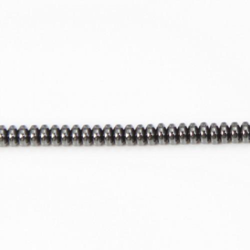 Hematite rondelle 2x4mm x 40cm