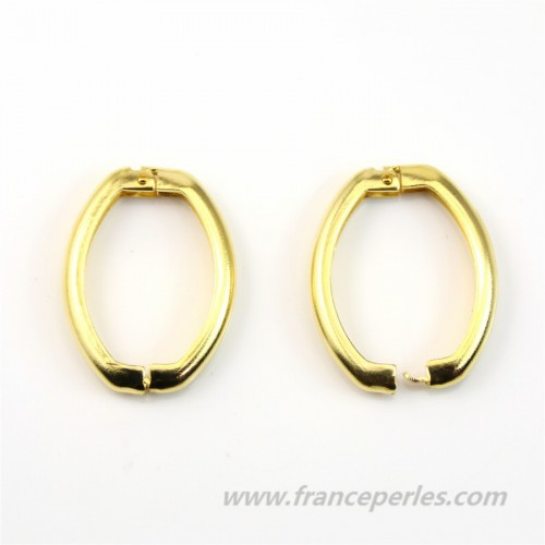 Clasp for long necklace gold tone 25*20mm x 1pc